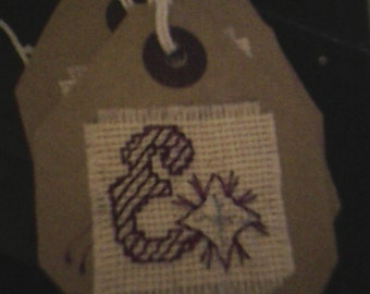 Letter E gift tag