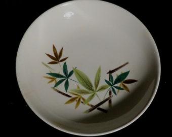 "Vintage 7 7/8"" Serving BOWL Salem China WOODHUE  Mid Century Retro Dish Schrechengost"