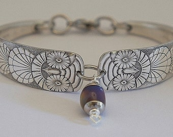 "Original 1892 ""Owl"" Spoon Bracelet Steampunk Victorian Era Authentic Silverware Flatware NOT Reproduction or Cast Jewelry EXTREMELY RARE"