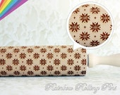 snowflake Pattern 25, Embossing rolling pin,embossed rolling pin,snowflake cookie,Christmas cookies,new year cookies,embossed cookies,cutter