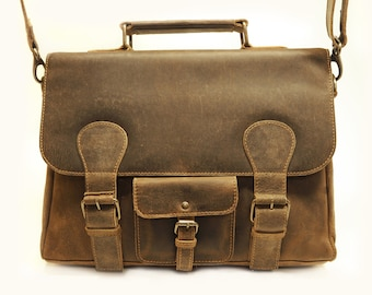 Johnston Satchel Vintage Brown by Uscha