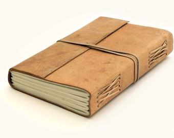 Raw Leather Bound Journal