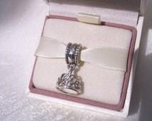 Snow white's Tiara Pandora Charm,Disney Filigree Crown Charm, Genuine Pandora Bracelet Charm, Gift Box Sold Separately