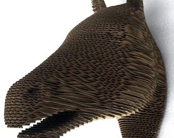 Cardboard Horse Head