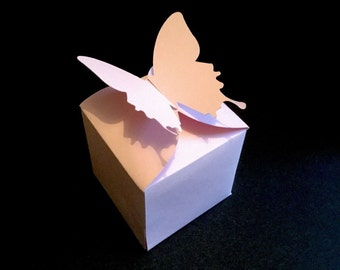 Butterfly favor box wedding decor butterfly party tea party butterflies gift box baby shower birthday party its a girl small box
