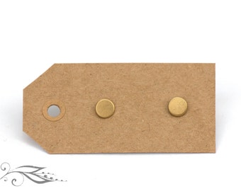 Micro Circuits - hand-soldered studs 5 mm made of brass and stainless steel