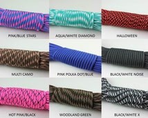 PATTERN; 100ft and 50ft, 550lb Type III Parachute cord with 7 inner strands