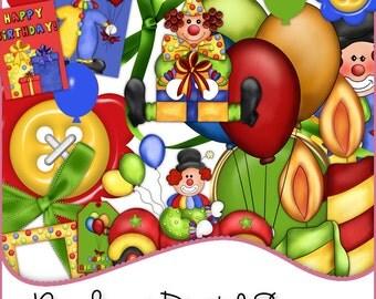 Designer Resources,Scrapbooking,Card Making,Birthday,Birthday Elements,Digital Elements