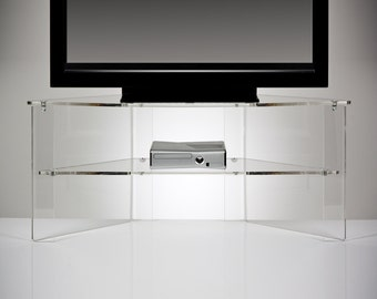 Perspex Acrylic Transparent TV Stand | Premium acrylic | Made in the UK