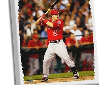 Mike Trout Los Angeles Angels of Anaheim Streched Canvas