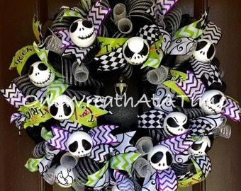 Jack Skellington Nightmare Before Christmas Wreath