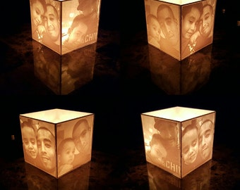 3D Printed Lithobox | Picture Cube | Luminaries | Candle Holder | Candle Box |