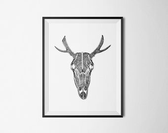 Art Print | Deer Skull