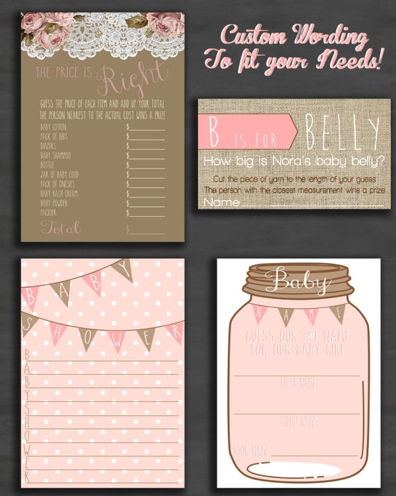 baby shower games and activities for baby girl digital download