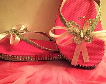 Elegant Wedding Flip Flops