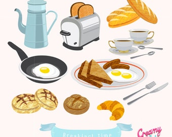 Clip Art Brunch Clipart brunch clipart etsy american breakfast food digital vector clip art european design illustration instant download