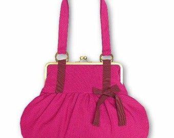 Tote bag Fuchsia vintage model/bag handmade