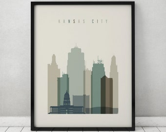 Kansas city skyline etsy for Home decor kansas city