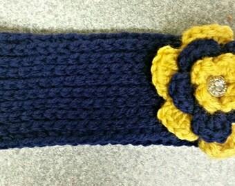 WVU crochet headband