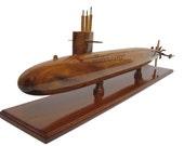 USS Sturgeon SSN 637 Class Navy Nuclear Submarine Sub Wood Wooden Model Gift