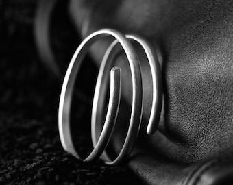 THREE RING STERLING Silver Bangle
