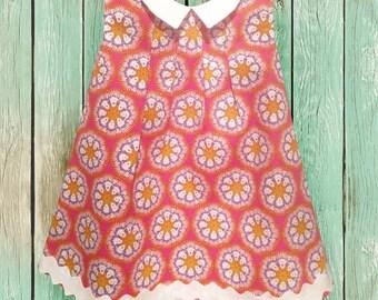Baby girl, Baby Pinafore Dress, Baby Summer Dress, Baby Beach Dress, Girls Dresses Size 6-12 months, Toddler Dress, Toddler Girl Clothes