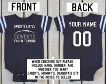 Personalized Baby or Toddler Football Jersey Dallas Cowboys