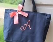 bridesmaid tote bags , bridesmaid gifts , tote bag , beach bag , bachelorette party gift ,wedding bag , maid of honor