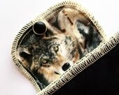 Organic Daypad Moonpads Reusable Cotton Flannel Fabric Cloth Menstrual Pads - Howl - Wolf Print Flaps