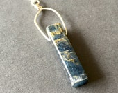 SALE Swing, Kyanite, Sterling Silver Necklace, erinelizabeth