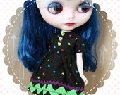 Black Hearted Baby / One-of-a-Kind Doll Dress for Blythe