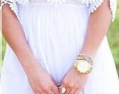 Druzy Bracelet - Druzy Wrap Bracelet - Howlite Bracelet - Howlite Wrap Bracelet - Gold Druzy Bracelet - Statement Bracelet - Raw Gemstones