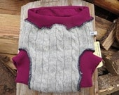 Grateful Buns Wool Soaker 2 - Layer Diaper Cover Large 20 to 30 lbs LS453h15