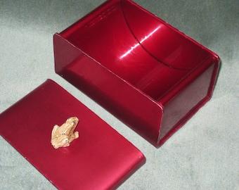 Super Sale! Unique RARE McClelland Barclay Cigarette Box, 1930s Cigarette Box, Handmade McClelland Barclay Metal Box, Hot Pink Metal Box