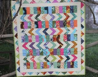 Kaleidoscope - Modern Baby Quilt