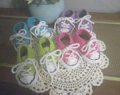 Baby Sneakers Runners Shoe Converse Style Crochet Soft Cotton Shoes Laces