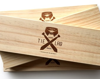Laser etched wood necktie box. Super fancy tie gift box. Natural pine wooden tie : necktie gift box - Aboutintivar.Com