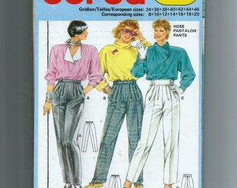 burda Pants  Pattern 6452