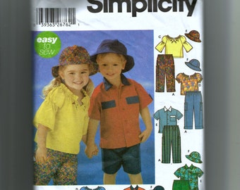 McCall's Toddlers' Pants, Shorts, Shirt, Pullover Top and Hat Pattern 5537