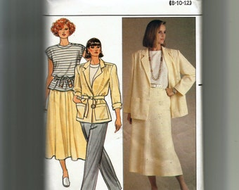 Butterick Misses' Jacket, Skirt, Pants, and Top Pattern 3079