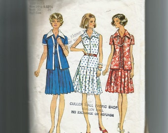 Simplicity Misses' Short Shirtdress or Shirt and Pants Pattern 5975