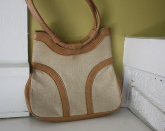 Vegan Bohemian Purse Shoulder Bag / Two Tone / Butterscotch