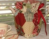 Tea cozy cosy 6 cup reversible patchwork to check