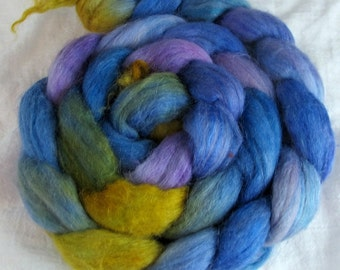 hand-painted polwarth mohair silk