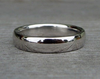 Palladium Wedding Band - Recycled 950 Palladium, Simple, Polished, 4mm Wide, Comfort Fit, Eco-Friendly, Ethical, Made To Order
