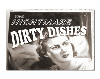 My Original Clean Dirty Dishwasher magnet Flip Sign Are Back! NIGHTMARE Comics Funny humor NOW Stainless Steel Option Wife Gift
