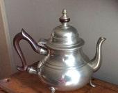 Steiff Pewter Williamsburg Restoration Tea Pot