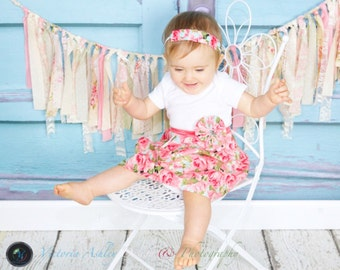 SHABBY CHIC DRESS..one piece dress.. girls clothing..new baby
