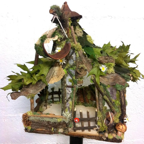 Items Similar To Ooak Custom Fairy House By Forest Whimsy