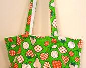 Recycled Vintage Apron Market Tote Bag